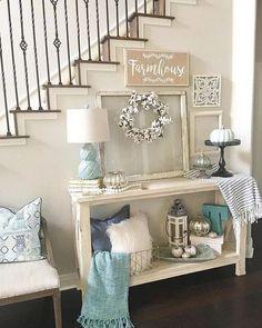 Home Living Room, Living Room Decor, Bedroom Decor, Country Decor, Farmhouse Decor, Red Farmhouse, Home Decor Inspiration, Decor Ideas, Entryway Decor