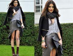 Acne Boots, H&M Clutch, Beymen Cardigan, Zara Jacket, My Best Friends Skirt