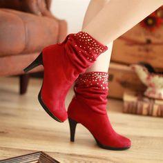 รองเท้าส้นสูงสีแดง pangma