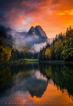 Evening light, Riessersee by Dag Ole Nordhaug