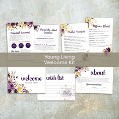 RUSTIC Young Living Business Cards, Personalized Young Living Cards, YL51– ToboArt
