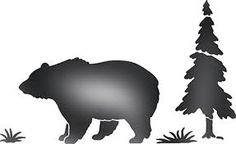 printable bear stencils - Google Search
