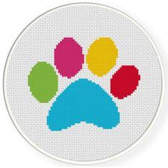 Charts Club Members Only: Dog Paw Cross Stitch Pattern