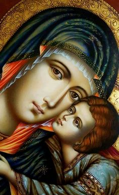 Icon - Madonna and Child Religious Images, Religious Icons, Religious Art, Blessed Mother Mary, Blessed Virgin Mary, Immaculée Conception, Mama Mary, Queen Of Heaven, Mary And Jesus