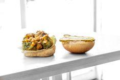 Inside our tasty Broccoli Burger : [feat. battered broccoli steak, cashew cheese, dill pickles, sauteed onion, roasted garlic, lettuce and parka aioli] : #parkafoodco #parka #vegan #vegansoftoronto #torontovegan #vegantoronto #blogTO #dailyhiveto #dishedto #narcitytoronto #curiocitytoronto #tastetoronto #tastethesix #foodtoronto #torontofood #to_finest #tastethe6ix #toreats #cravethe6ix #torontofoodies #torontorestaurants Cashew Cheese, Vegan Comfort Food, Vegan Restaurants, Saute Onions, Aioli, Roasted Garlic, Plant Based Recipes, Lettuce, Burgers