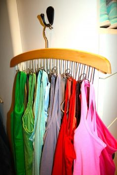 Belt Rack to Hang Tank Tops  Camisoles - Chaos to Order - Chicago Professional Organizers for Home and Office Organizing