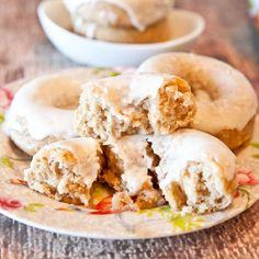 Baked Cinnamon Bun Donuts with Vanilla Cream Cheese Glaze recipe & tutorial from Love Veggies and Yoga Blog.