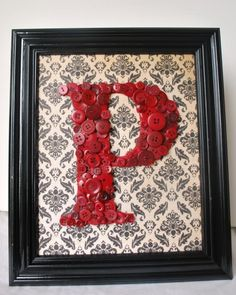 Framed button Letter