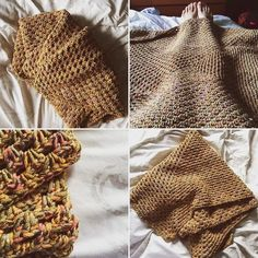 """Whenever you decide to buy yarn to make a pillow cover and instead it turns into """"I really like this yarn let me make a blanket""""  ----------- #FirstWorldProbs #YarnAddict #crochet #knit #yarn #vintage #handmade #crochetbabyblanket #crochetblanket #crafty #diy #workwithyourhands #grannysquare by galyoungin"""