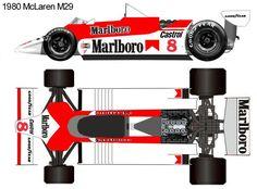 1980 McLaren M29 formula 1 Mclaren Cars, Mclaren Mp4, Formula 1 Autos, Maserati, Ferrari, Ground Effects, Racing Quotes, Race Party, Ayrton Senna