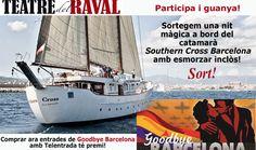 ¡El ganador del 1º Premio del concurso GoodBye Barcelona es: SARA VIDAL   ¡El ganador del 2º Premio del concurso GoodBye Barcelona es: ROSER BONDIA  ---------- Compra entradas para ver GoodBye Barcelona y participa en el sorteo de una noche mágica en un barco con almuerzo incluído! Win Money, Slot Online, Barcelona, Play, Pageants, Shopping, Lunch, Prize Draw, Door Prizes