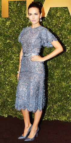 classic line., beautiful lace dress with coordinating snakeskin heels. awesome. camilla belle (Michael Kors, 2014)