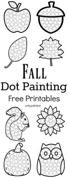 These Fall Dot Painting worksheets are a fun mess free painting activity for you... - http://www.oroscopointernazionaleblog.com/these-fall-dot-painting-worksheets-are-a-fun-mess-free-painting-activity-for-you/
