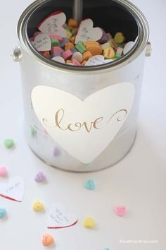 Gallon full of love gift idea on iheartnaptime.com ...super cute and easy!! #Valentines