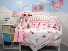 $179.95-$179.95 Baby This Set Fits all Toddler Beds and Cribs (Single or Convertible) (USA, UK, AU, Etc..) The Set includes following 10 pieces: * Hand Embroidery Crib Quilt * Hand Embroidery Crib Bumper * Fitted Sheet * Crib Skirt (Dust Ruffle) * 2 pieces of Window Valances * Diaper Stacker * Toy Bag * Baby Pillow * Baby Bib