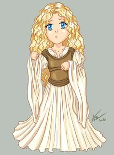 lord of the rings chibi | Eowyn from Lord of the Rings in chibi version ;)