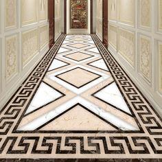 Black And White Diamond Floor Mural Dai Floor Murals, Floor Art, Floor Wallpaper, Custom Wallpaper, Wallpaper Murals, Floor Patterns, Tile Patterns, Floor Design, Ceiling Design