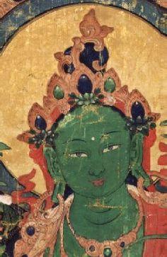 Green Tara Detail from 1008 Green Taras Tibet, 18th century