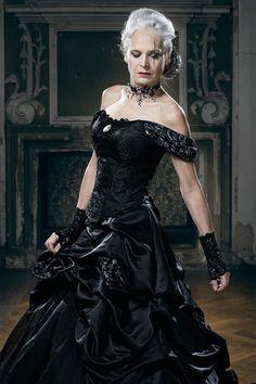 Ausgefallene schwarze Brautkleider