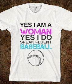 WOMAN LOVIN BASEBALL - glamfoxx.com - Skreened T-shirts, Organic Shirts, Hoodies, Kids Tees, Baby One-Pieces and Tote Bags