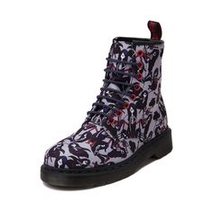The new Adventure Time Castel Boot from Dr. Martens will be love at first bite! Marceline the Vampire Queen, from the animated television series, Adventure TIme, is presented on these killer Castel Boots, featuring allover graphic prints on a sturdy mesh upper with signature, Dr. Martens air-cushioned sole. Available online at Journeys.com! Available for shipment in March; Pre-order yours today! Features include: Marceline the Vampire Queen themed colorway...