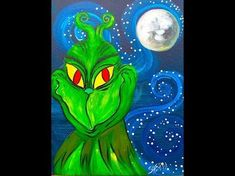 The Grinch Beginner Acrylic Painting tutorial LIVE – Hobbies paining body for kids and adult Acrylic Painting For Beginners, Acrylic Painting Tutorials, Painting Videos, Painting For Kids, Painting Classes, Pour Painting, Painting Lessons, Painting Tips, Painting Techniques