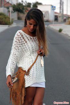 Приступаем к вязанию белого ажурного джемпера от Zara