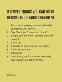 8 Simple Things You Can Become Much More Confident