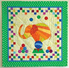 Under the Big Top by Vivian Ritter in Quilters Newsletter Presents Best Kids Quilts 2015 Elephant Quilts Pattern, Quilt Patterns, Quilting Projects, Quilting Ideas, Toddler Quilt, Baby Quilts, Kid Quilts, Animal Quilts, Big Top