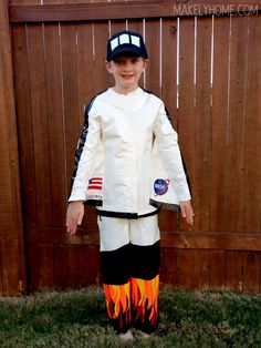 Pretty awesome space shuttle costume! - How to Easily Cut Shapes from Duck Tape via MakelyHome.com