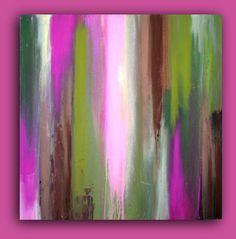 Art Abstract Acrylic Painting Modern Original by OraBirenbaumArt