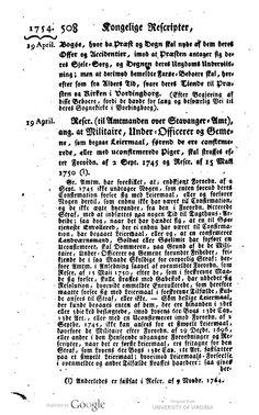 Efter Farø-bøndernes ønske overføres de ved kongeligt reskript af 19. april 1754 fra Vordingborg kirke og præst til Bogø Sogn.