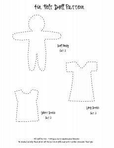 Felt Doll Tutorial and Free Pattern