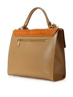Charles Jourdan Women's Jocelyn Handle Bag, Orange/Natural