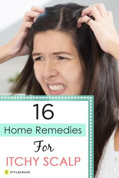 [ Hair Care : Before opting for these home remedies, make sure you check the cause of this itchiness. Notice your scalp texture carefully. Dry skin on the Psoriasis Remedies, Dry Skin Remedies, Hair Remedies For Growth, Natural Remedies, Herbal Remedies, Dandruff Remedy, Hair Growth, Pimples Remedies, Health Remedies
