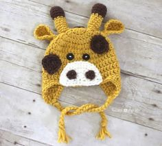 Crochet Giraffe Hat Pattern - Repeat Crafter Me