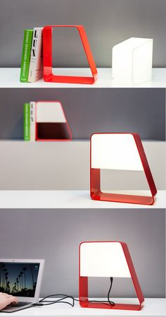 Removable Light + Bookstand + USB Cable = Ludovica USB-powered Light by Andrea Zanocchi and Carolina Starke