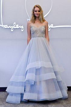 vestido de noiva em tom azul de hayley paige primavera 2015