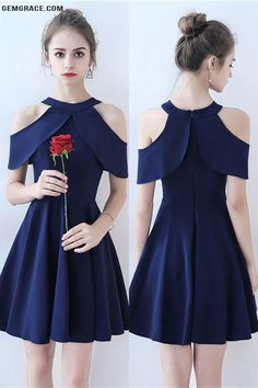 OFF, Homecoming Dresses Simple Navy Blue Short Homecoming Dress Aline at GemGrace. View more special Special Occasion Dresses,Homecoming … Trendy Dresses, Simple Dresses, Cute Dresses, Short Dresses, Fashion Dresses, Formal Dresses, Casual Dresses, Dresses Dresses, Special Dresses