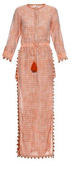 TALITHA Jaya block-print cotton and silk-blend dress