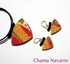 Polymer clay jewelry #ChamaNavarro #polymerclay