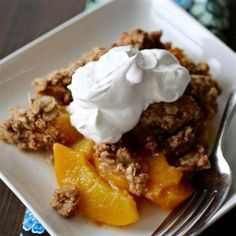 Mom's Peach Crisp