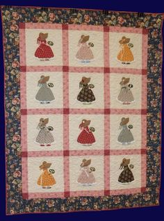 Straw Bonnet Sue Quilt Pattern PCG-2115 (advanced beginner, lap and throw)
