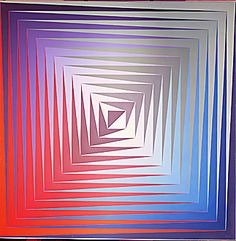 40-12-02/ 9 Vasarely,Victor de. Blue, Red, Green. Oi...