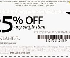 Printable Coupons: Kirklands Coupons