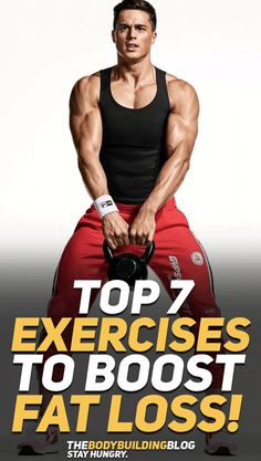 Check out the top 7 cardio exercises that will boost fat loss (weight loss) and help you improve your fitness in general! #fitness #fit #exercise #exercises #workout #fitfam #gym #cardio