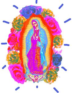 Virgin of Guadalupe Murs Roses, Pattern Texture, Mama Mary, Holy Mary, List Of Artists, Blessed Virgin Mary, Mexican Art, Blessed Mother, Mother Mary