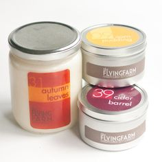 The Flying Farm Soy Candle Sampler pack  1 Large by TheFlyingFarm, $37.50