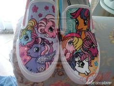 My little pony - Custom Shoes by ~lalacassiano on deviantART