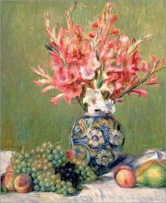Pierre-Auguste Renoir - Still life of Fruits and Flowers, 1889